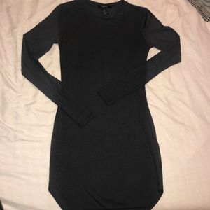 Dark Grey Long Sleeve Dress